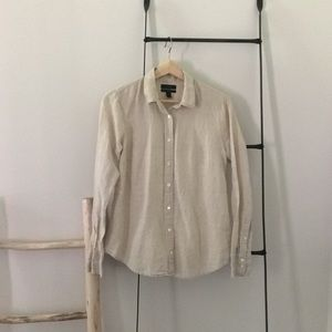 J.crew jcrew linen button down blouse sz 4